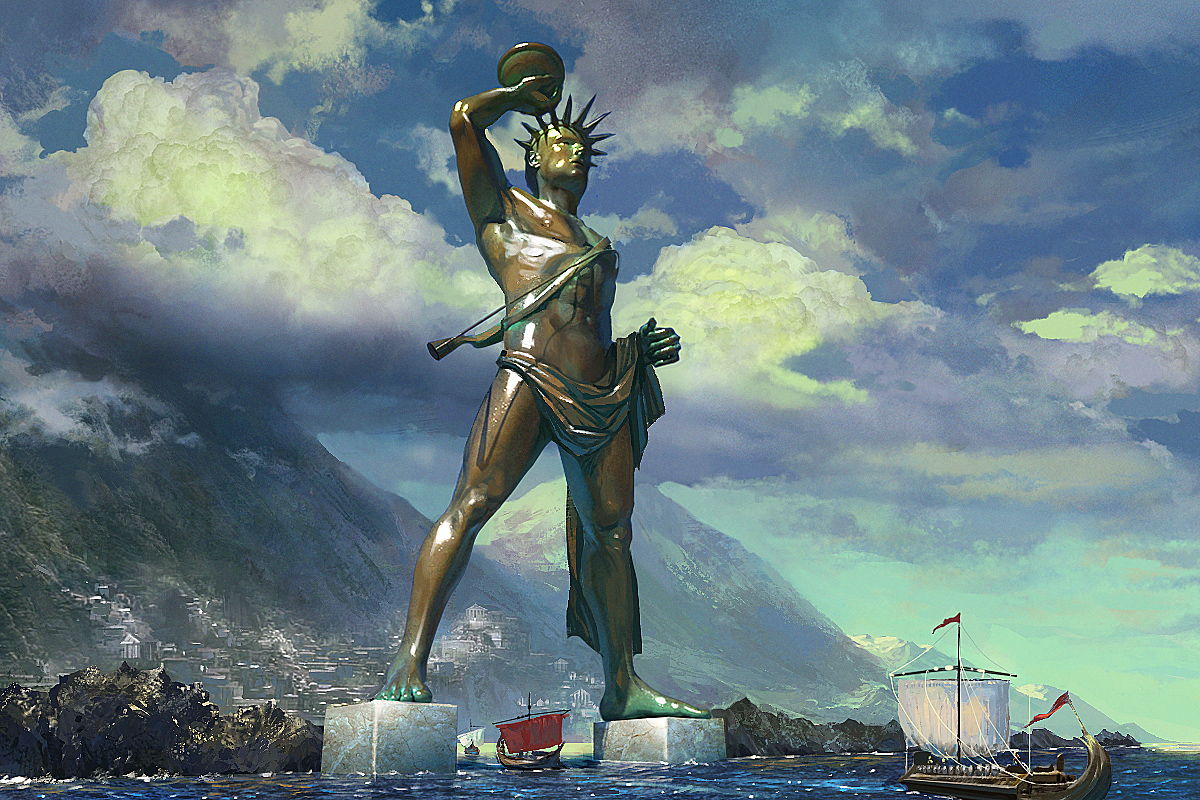 ancient eu colossus of rhodes